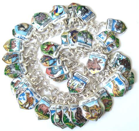shield charm bracelets echarmony vintage silver enamel