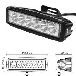 led light bar driving lights annt annt 6inch 18w led work light bar spot driving