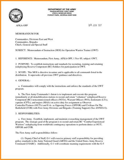8 army letterhead exle cook resume