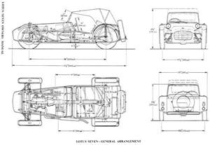 Lotus 7 Frame Plans Tutorials3d Blueprints Lotus Seven