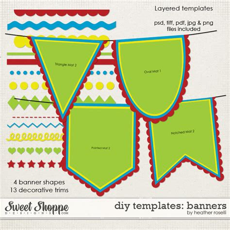 diy banner template sweet shoppe designs your memories sweeter