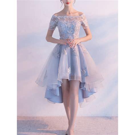 light blue high low dress high low homecoming dresses light blue high low