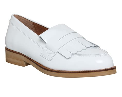 Maharani Loafer Flats Dir Co office verse fringed loafer white patent leather flats