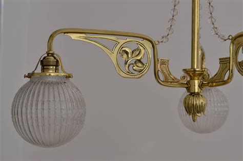 Jugendstil Chandelier With Original Glass Balls At 1stdibs Chandelier Glass Balls