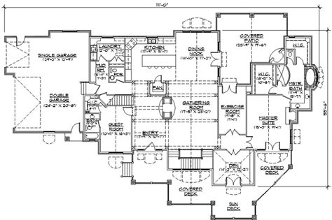 one story luxury house plans luxury style house plans 3761 square foot home 1 story