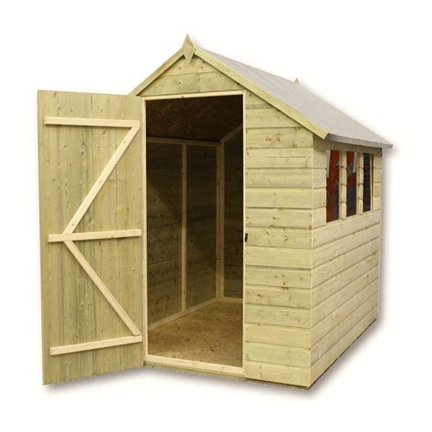 6 X 5 Shed by 6 X 5 Pressure Treated Apex Shed