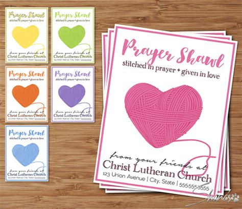 prayer shawl card template printable prayer shawl ministry card tag design templates