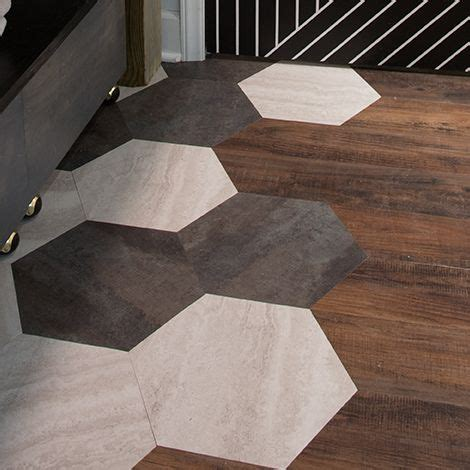hex pattern vinyl flooring custom hexagon floor while looking high end and expensive