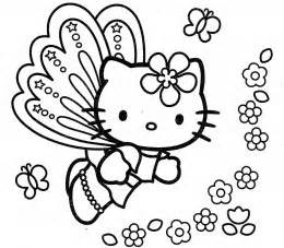hello kitty butterfly coloring pages free hello kitty coloring pages kleurplaten pinterest