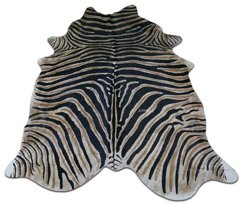 zebra cowhide rug genuine zebra print cow hide rugs 7 5