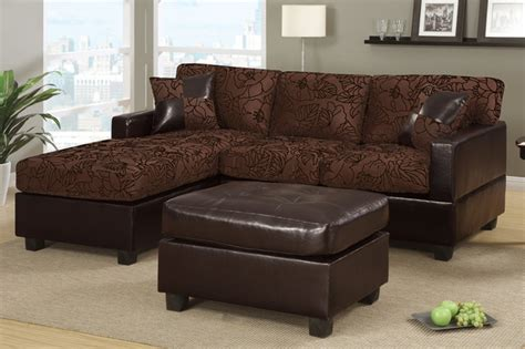 floral sectional sofa small chocolate fabric leather sectional sofa reversible