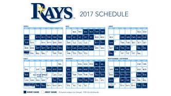 cubs home schedule 2017 ta bay rays schedule released fox sports