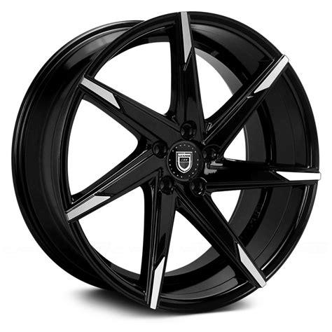 black wheels lexani 174 css 7 wheels gloss black with machined tips rims