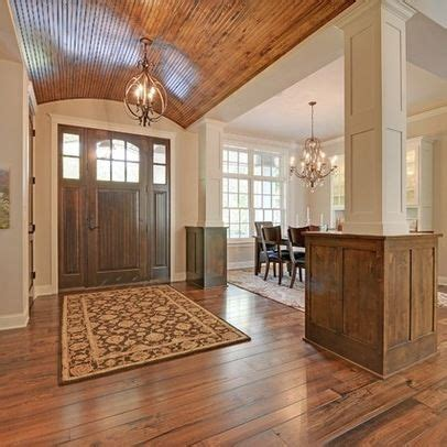 vaulted foyer barrel vaulted ceiling beadboard someday