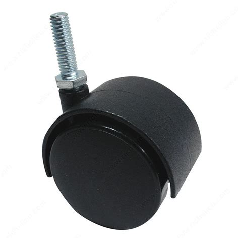 Chair Casters Threaded Stem by Dual Wheel Furniture Caster With Threaded Stem