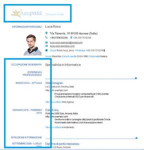 Curriculum Vitae Italiano by Europass Cv Example