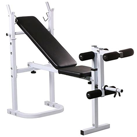 yaheetech weight bench fitness workout home exercise