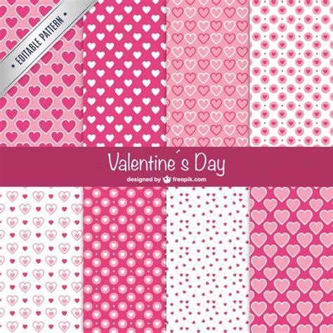 valentine pattern vector valentine s day patterns vector free download