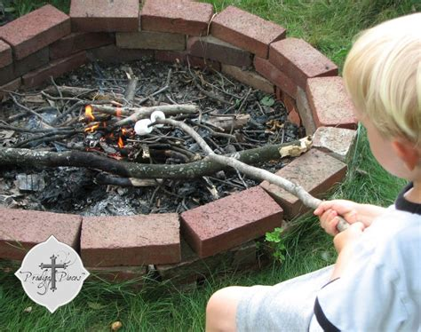 how to make a firepit out of bricks budget pit from reclaimed brick prodigal pieces