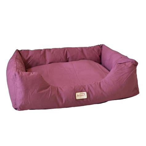 canvas dog bed shop armarkat burgundy canvas rectangular dog bed at lowes com