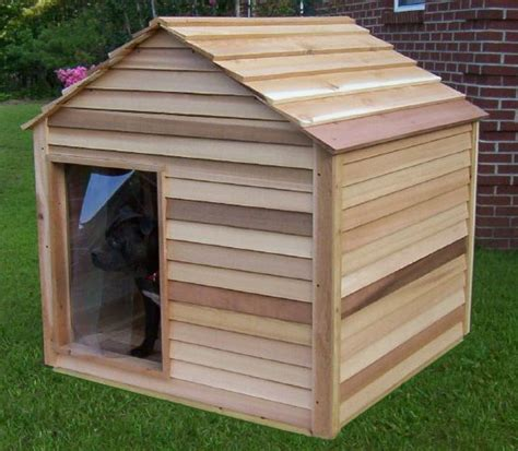 large heated dog house extra large cedar dog house