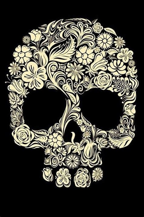 wallpaper iphone skull floral skull wallpaper for iphone calavera