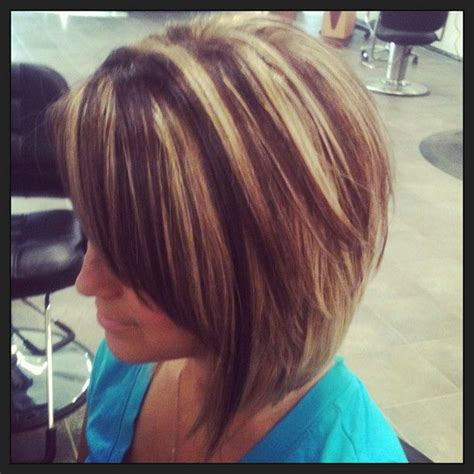 bob hair lowlights 166 best images about angled stacked bob on pinterest