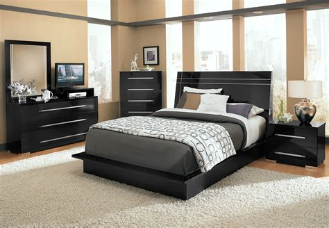 bedroom sets black dimora 7 piece queen panel bedroom set with media dresser