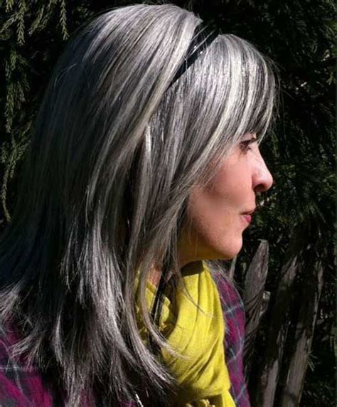silver highlighted hair styles 20 best silver gray hair long hairstyles 2016 2017