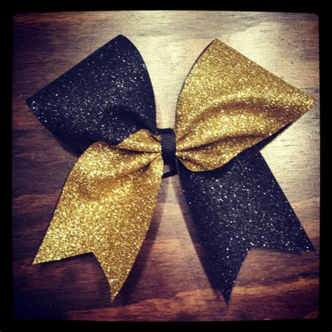 and gold bows black and gold glitter cheer bow by bragaboutitcheerbows