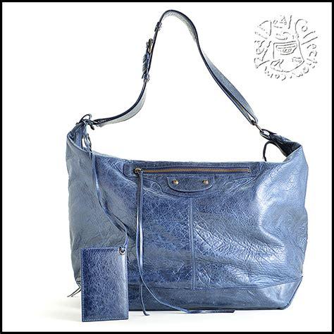 Balenciaga The Courier Bag by Rdc6179 Authentic Balenciaga Marine Blue Lambskin Leather