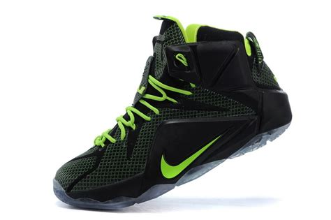 cheap basketball nike shoes cheap nike lebron 12 black volt mens basketball shoes