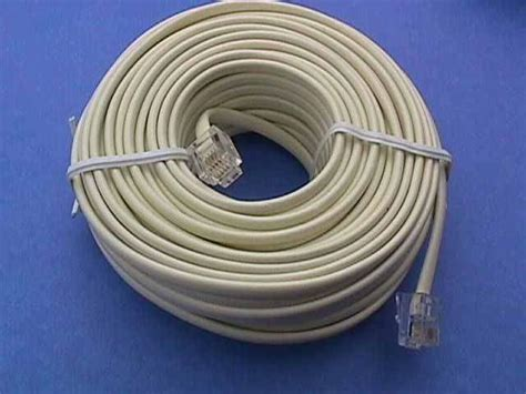 line cable 50ft ivory phone cable line rj11 pccables