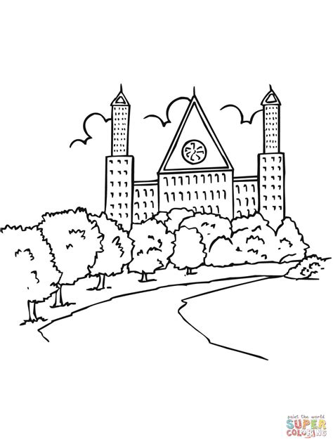 Fabulous Click The Stockholm Landscape Coloring Pages To Dala Coloring Page