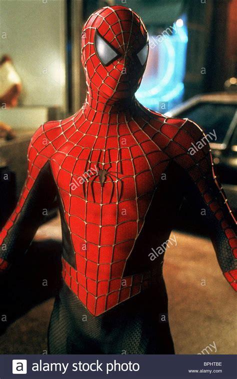 spider man 2002 tobey hqir tobey maguire spider man spiderman 2002 stock photo