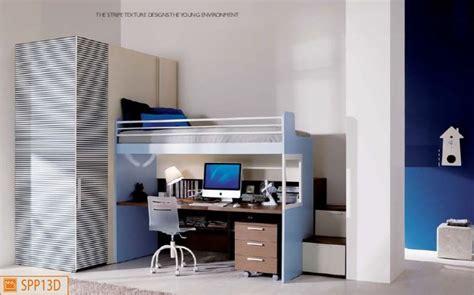 letto soppalco scrivania merlino con scrivania e cabina armadio