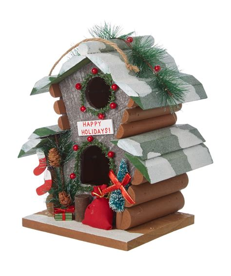 kurt adler ornaments kurt adler 9in wooden birdhouse ornament