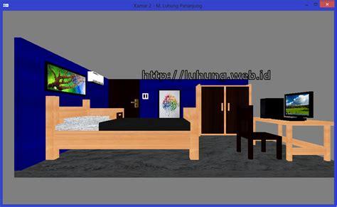 Membuat Rumah 3d Dengan Opengl   luhung s corner tugas opengl pembuatan interior kamar