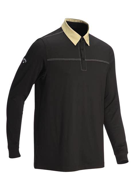callaway sleeve golf polo shirts black medium ebay