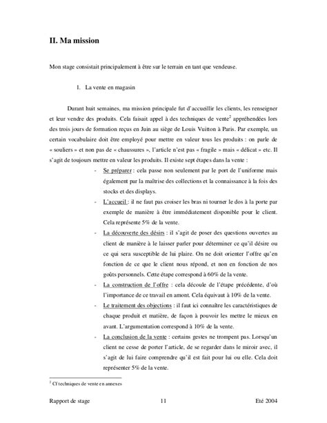 Lettre De Motivation Stage Vendeuse Pret A Porter Exemple De Rapport De Stage Vente Pret A Porter Document