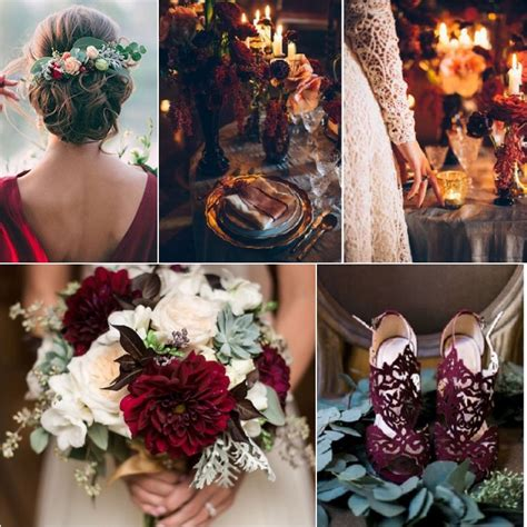 the best wedding color themes for fall 2017