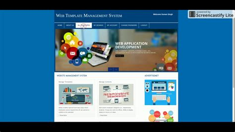 Php And Mysql Project On Web Template Management System Youtube Task Management Website Template