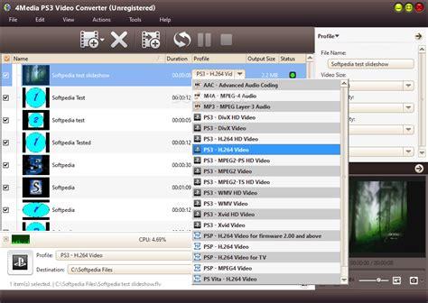 format file ps3 4media ps3 video converter download