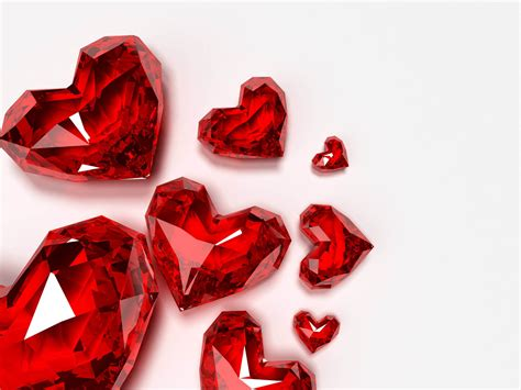 design x 7 love wallpapers crystal red hearts