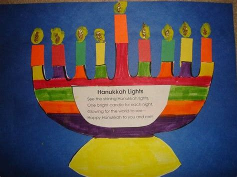 menorah craft projects hanukkah craft and information around the