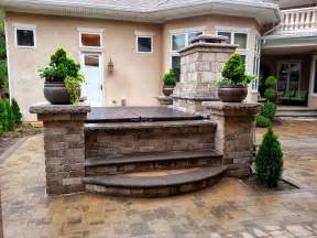 patio paver photos with tubs fireplace tub