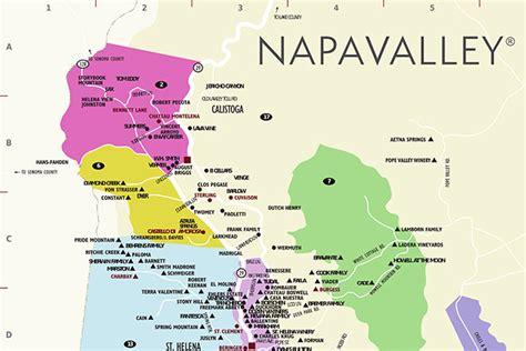 napa valley winery map california map napa valley