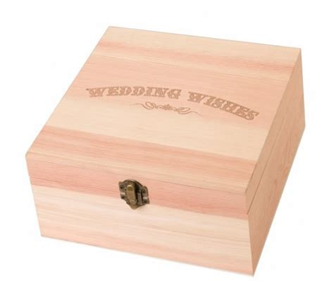 Wedding Wishes Gift Box by Wedding Wishes Wooden Card Box Decorations Supplies