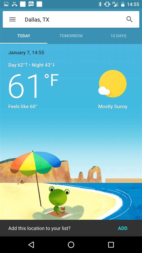 what s the best weather app for android seems to be testing a beautiful new weather interface