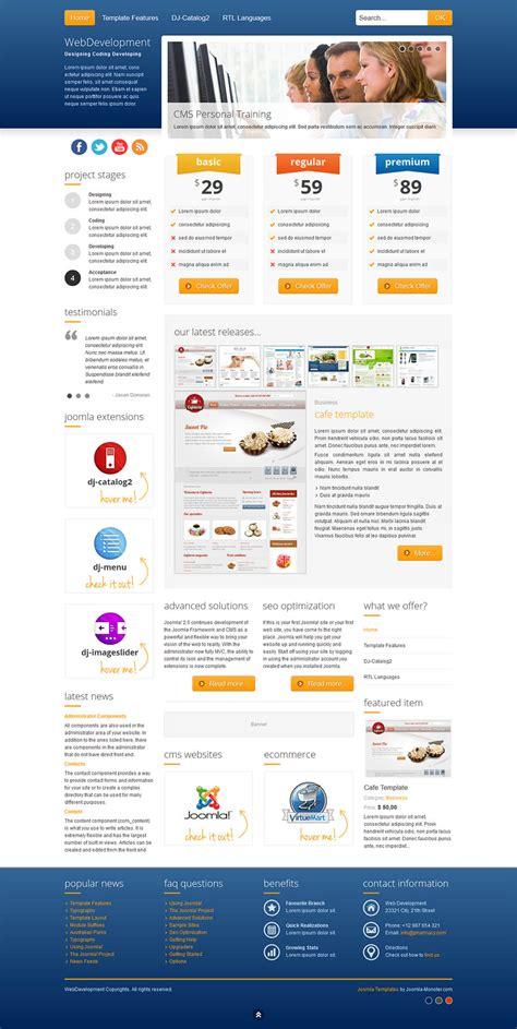Joomla Monster Web Development V1 0 8 Website Template Studio For Joomla Joomla Template Developer